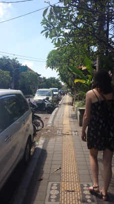Walking on the streets of Ubud