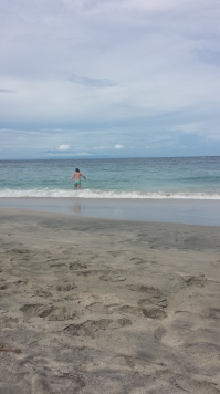 Swimming at White Sandy Beach, Candidasa