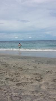Swimming at White Sandy Beach, Candidasa